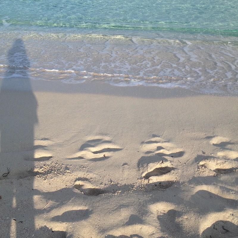 Ombra su spiaggia